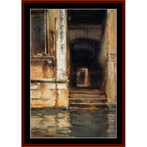 venetian doorway - sargent cross stitch pattern by cross stitch collectibles