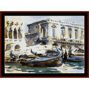 venice - the prison - sargent cross stitch pattern by cross stitch collectibles