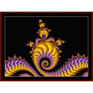 fractal 80 cross stitch pattern by cross stitch collectibles