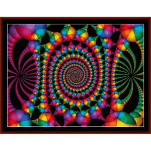 fractal 89 cross stitch pattern by cross stitch collectibles