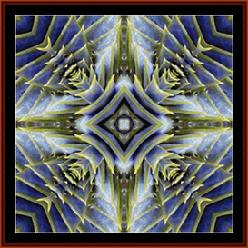 fractal 91 cross stitch pattern by cross stitch collectibles