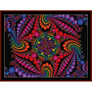 Fractal 95 cross stitch pattern by Cross Stitch Collectibles | Crafting | Cross-Stitch | Wall Hangings