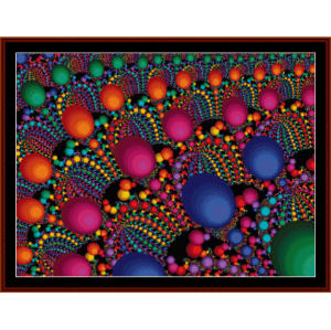 fractal 96 cross stitch pattern by cross stitch collectibles