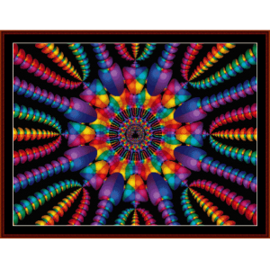Fractal 130 cross stitch pattern by Cross Stitch Collectibles | Crafting | Cross-Stitch | Wall Hangings
