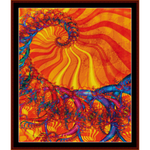 fractal 220 cross stitch pattern by cross stitch collectibles
