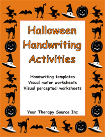halloween handwriting activities