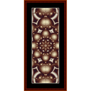 fractal 239 bookmark cross stitch pattern by cross stitch collectibles