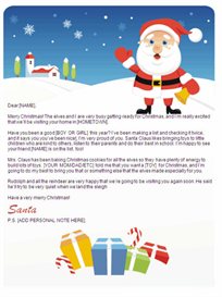 printable santa letter w/customized p.s. (gifts design)
