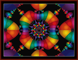 fractal 148 cross stitch pattern by cross stitch collectibles