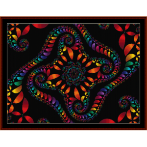 fractal 154 cross stitch pattern by cross stitch collectibles