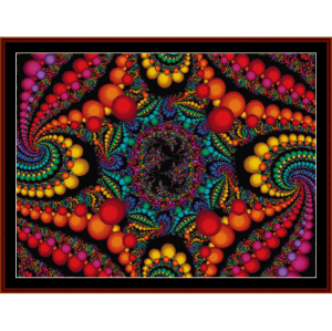 fractal 156 cross stitch pattern by cross stitch collectibles