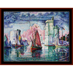 port of la rochelle - signac cross stitch pattern by cross stitch collectibles