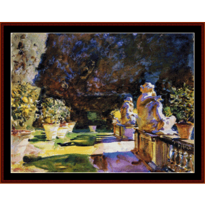 villa di marlia lucca - sargent cross stitch pattern by cross stitch collectibles