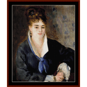 woman in black - renoir cross stitch pattern by cross stitch collectibles