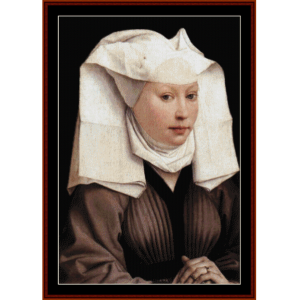 woman with gauze headddress - van der weyden cross stitch pattern by cross stitch collectibles