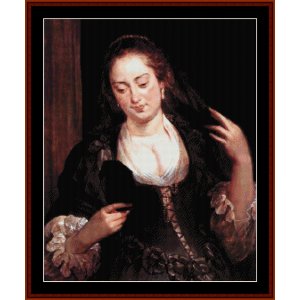 woman with mirror - rubens cross stitch pattern by cross stitch collectibles