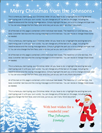 family christmas letter paper - santa claus