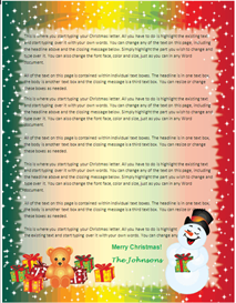 family christmas letter paper - snowman gifts