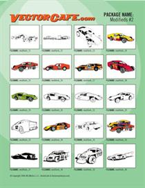 modifieds vector clip art #2