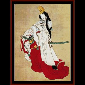 ukiyo-e 2 - asian art cross stitch pattern by cross stitch collectibles
