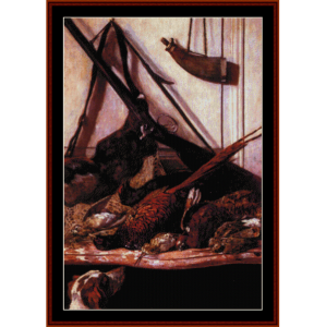 trophies of the hunt - monet cross stitch pattern by cross stitch collectibles
