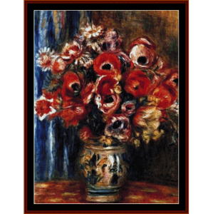 Tulips and Anemones - Renoir cross stitch pattern by Cross Stitch Collectibles | Crafting | Cross-Stitch | Wall Hangings