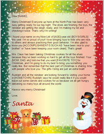 personalised letter from santa clause