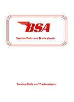 BSA Factory Service Bullitins 1960's 70's | eBooks | Automotive
