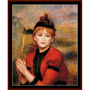 the rambler - renoir cross stitch pattern by cross stitch collectibles