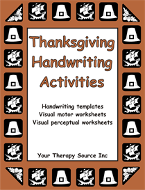 thanksgiving handwriting activities