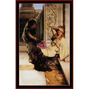 shy - alma tadema cross stitch pattern by cross stitch collectibles