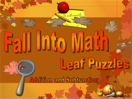 fall into math puzzle squares powerpoint