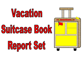 main character vacation suitcase book report