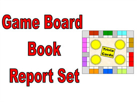 game board book report set