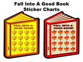 fall into a good book sticker chart set