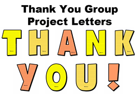 t-h-a-n-k y-o-u letters group project set