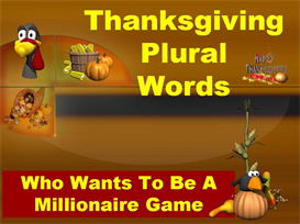 Thanksgiving Plural Words Powerpoint Lesson | Other Files | Documents and Forms