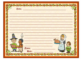 november pilgrims creative writing stationery set