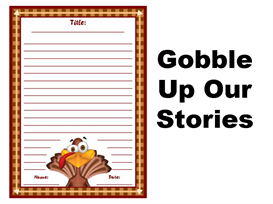 gobble up our stories writing stationery set