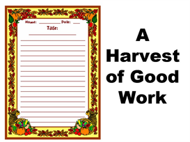 a harvest of great work stationery set