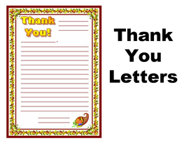thank you letters stationery set