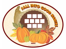 fall into good habits sticker chart set