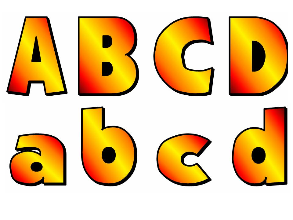 ABC Uppercase And Lowercase Letters Fall Colors