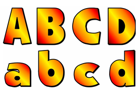 ABC Uppercase and Lowercase Letters Fall Colors | Other Files | Documents and Forms