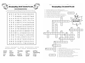 thanksgiving 5 puzzle set