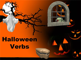 halloween present and past tense verbs powerpoint