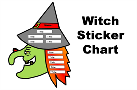 witch books have you read sticker chart set