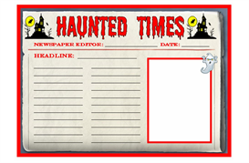 haunted times newspaper writing set