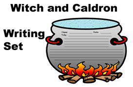 witch and cauldron creative writing set