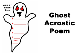 ghost acrostic poetry set